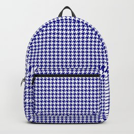 Large Australian Flag Blue and White Gingham Houndstooth Check Backpack