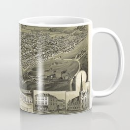 Aerial View of Shenandoah, Pennsylvania (1889) Coffee Mug