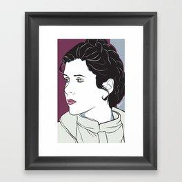 Icy Princess Framed Art Print