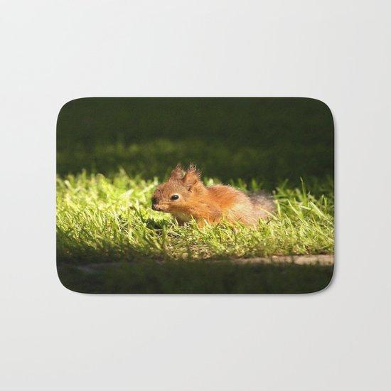 Cute Squirrel Cub  Bath Mat