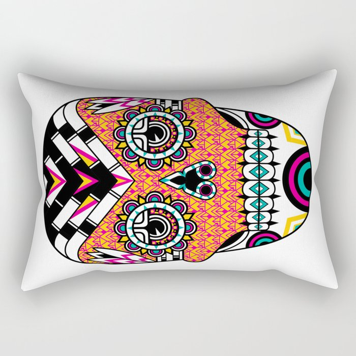 Deco Skull Rectangular Pillow