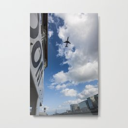 DHL, 757 over the Liffey Dublin at Flightfest Metal Print