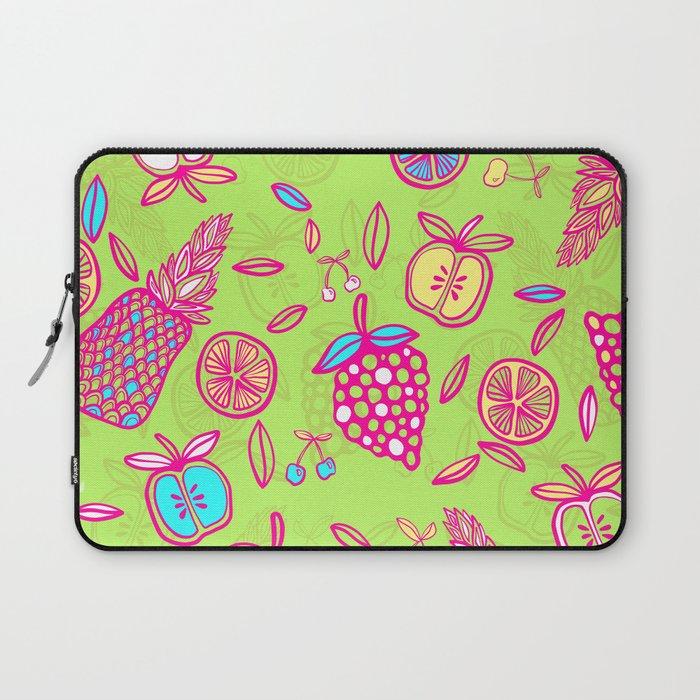 Tropicana on lime green Laptop Sleeve