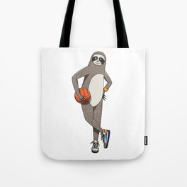 The sporty sloth Tote Bag