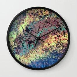 Mountain Trail Edit Invert Wall Clock