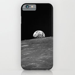 The first photograph Earthrise during Apollo 8. iPhone Case