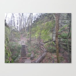 Stairs in the ledges Canvas Print