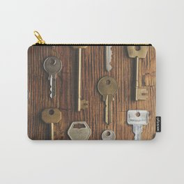 Keys on wood Carry-All Pouch
