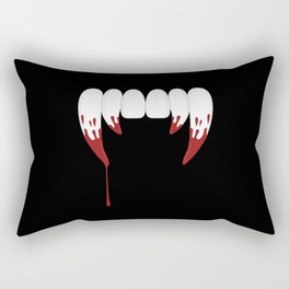 Vampire Teeth Rectangular Pillow