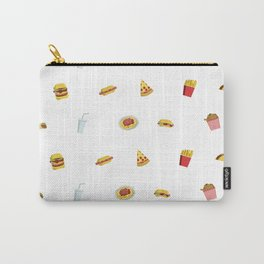 wallpaper of fast food icons Carry-All Pouch