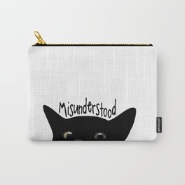 Black Cat Misunderstood Carry-All Pouch
