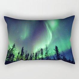 Northern Lights in Yellowknife Rectangular Pillow