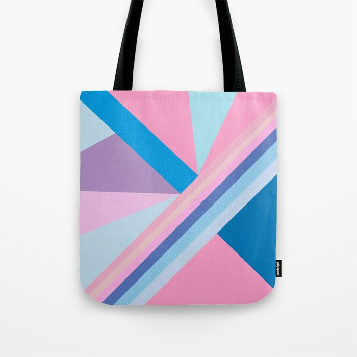 Trendy modern pink blue abstract pattern  Tote Bag