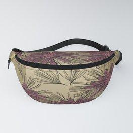 Purple Floral Fanny Pack