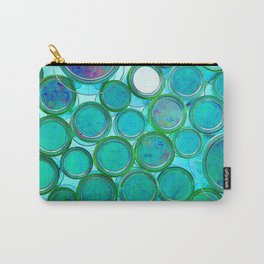 Turqoise Circles by Lika Ramati Carry-All Pouch