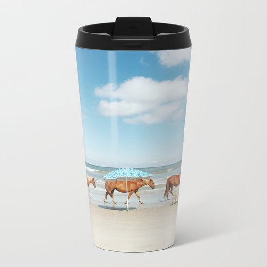 Summer Coast Horse Stride Metal Travel Mug