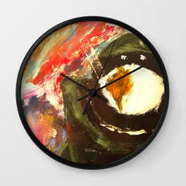 Bomb Suit Visions Wall Clock