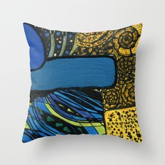 town by the ocean Throw Pillow