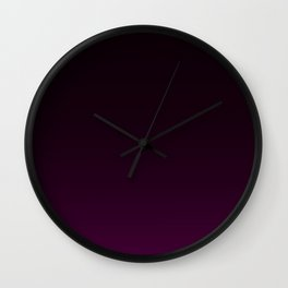 Aubergine Gradient Wall Clock