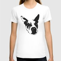 pit bull T-shirts featuring Pit Bull Boxer Mix by MIX INX