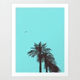 me love palm tree Art Print