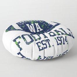 Seattle Football Fan Gift Present Idea Floor Pillow