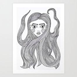 Lindsay's hair Art Print