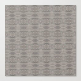Elegant Gray Geometric Southwestern Pattern - Luxury Canvas Print