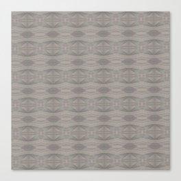 Elegant Gray Geometric Southwestern Pattern - Luxury Fabric - Corbin Henry Canvas Print