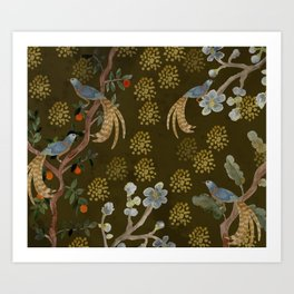 Golden Chinese Forest - Chinese Art Art Print