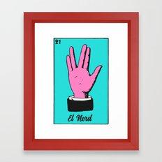 El Pop Culture Nerd Framed Art Print