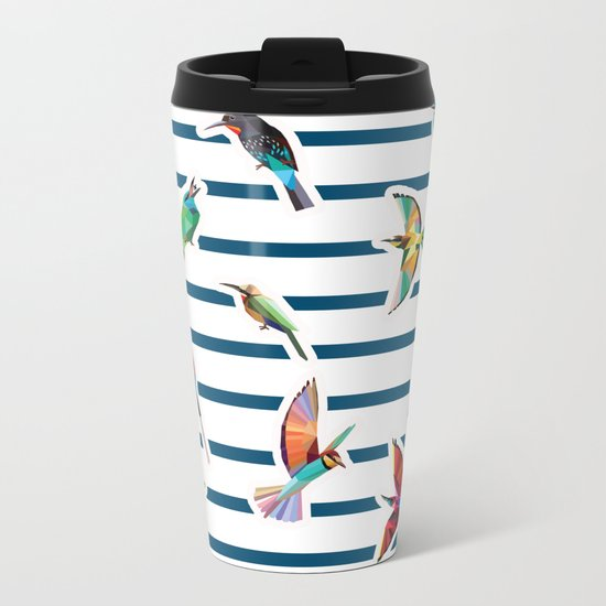 birds  Metal Travel Mug