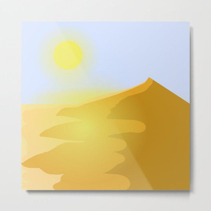 Sand and heat Metal Print
