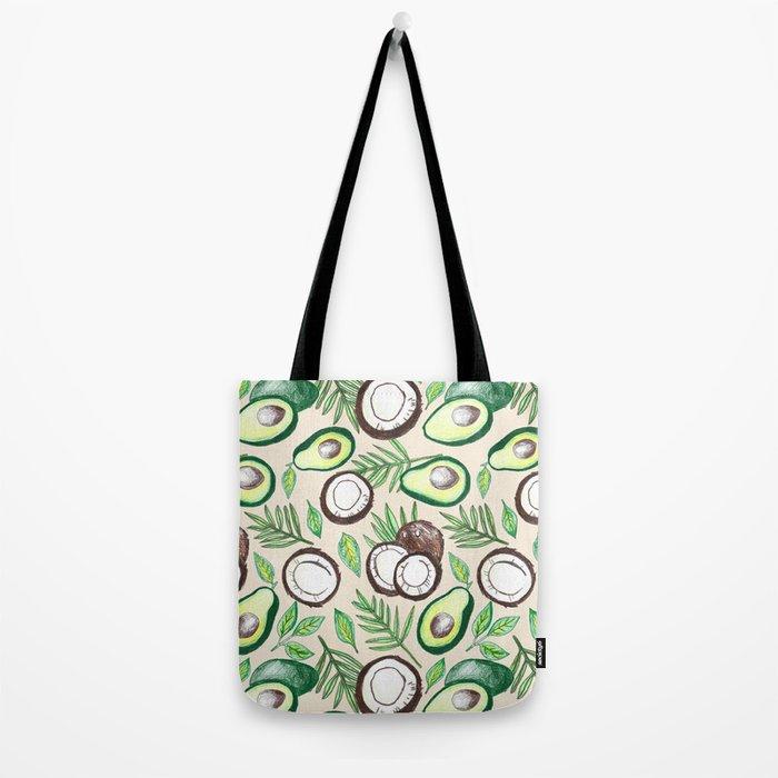Coconuts & Avocados Tote Bag