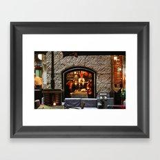 Restaurant Window Framed Art Print