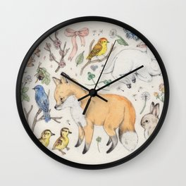 Trying to Be Happy a Lot of the Time Wall Clock