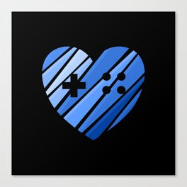 Gamer Boy Blue Canvas Print