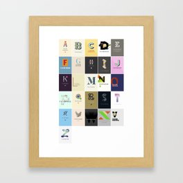 The ABC Project Framed Art Print