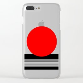 Red Sun Clear iPhone Case