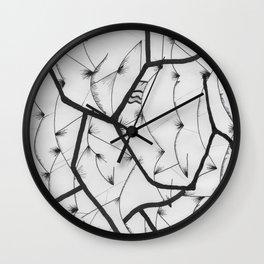 Shatterd lines Wall Clock