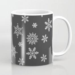 Snow Flurries-Solid Charcoal Coffee Mug