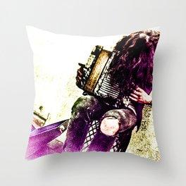 BUSKER (color) Throw Pillow