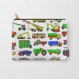 Doodle Trucks Vans and Vehicles Carry-All Pouch