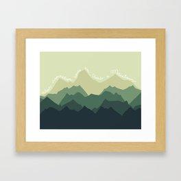 Inspirational Mountain Framed Art Print