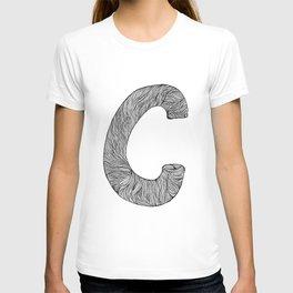Hand Drawn Font C T-shirt