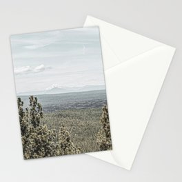 True Grain // Gritty Desaturated Detail of the Oregon Coast Mountains and Woods Stationery Cards