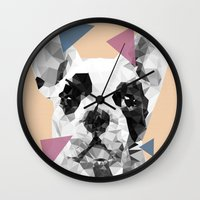 frenchie Wall Clocks featuring Frenchie by Esco