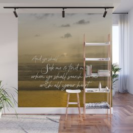 Ocean Sunrise: Seek Him with your whole Heart Scripture Wall Mural