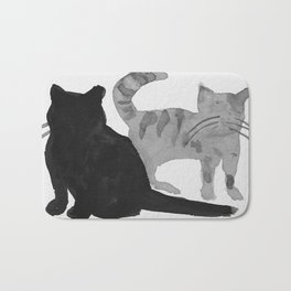 Two Cats Bath Mat