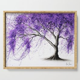 Purple Tree Serving Tray